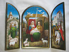 Nativity Triptych Icon Jesus and Family in Bethlehem Authentic Russian Icon