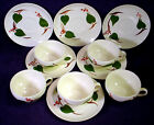 Saucer SETS Hand Painted SOUTHERN POTTERY Green