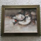PACO GOROSPE PAINTING ABSTRACT FISH THE PICASSO OF THE PHILIPPINES VINTAGE 1970
