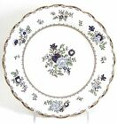 FINE SET 12 ANTIQUE BOOTH'S CHINA PATTERN A8086 SCALLOPED BREAD PLATES GOLD BLUE