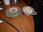 TRIMONT CHINA FLORAL GOLD GILT TEA CUP AND SAUCER MADE IN OCCUPIED JAPAN LOOK!