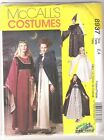 McCall Costume Pattern Medieval Dress, Cape, Vest, Gown, Hat - Child Size 2, 4