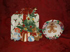 FITZ AND FLOYD ESSENTIALS WEE CHRISTMAS TREE TRAY AND CANDY LANE BOWL