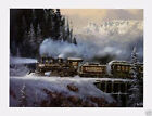 Hardpull to Orway Ted Blaylock Train Railroad Art Print Poster 30x24