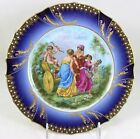 M REDON LIMOGES SIGNED KAUFFMAN COBALT GOLD JEWELED HAND PAINTED PORTRAIT PLATE