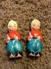 Antique Hand Painted Japan Baby Genie Sultan Collectible Salt and Pepper Shakers