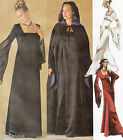 Misses Elegant Goth Gown and Hooded Cape Robe Sz 16-20 UNCUT Sewing Pattern