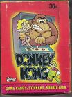 TOPPS DONKEY KONG - WAX BOX - EXCELLENT - 1982 - 36 NEAR MINT SEALED PACKS