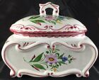 Hand-painted REEL Portugal tureen, storage canister or cookie jar