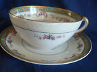 HAVILAND FRANCE LIMOGES TEA CUP AND SAUCER CORSICA CA 1876-1930 EMBOSSED