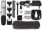 Beard and Mustache Cordless Trimmer Sharp Shaver Razor Men Rechargeable W/ Pouch