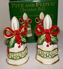 2004 Fitz & Floyd Christmas Bells - Holiday Salt & Pepper Shakers - New in Box