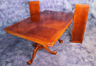 2 Leaf Double Pedestal Extension Dining Room Table Claw Feet Set Chairs Side End