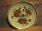 Ling Chi China Jinzhou Pottery 3 Fish Trio Plate Wall Art Decor #31