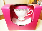 Royal Albert China Vintage ROSE CONFETTI Teacup Cup and Saucer Set - NEW / BOX!