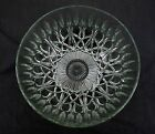 Vintage 10 1/2'' Ornate Glass Serving / Mixing Bowl Heavy Duty
