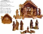 Bethlehem olive wood Nativity Scene from Israel Holy Land Jesus Holy Family NEW