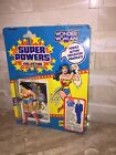 WONDER WOMAN SUPER POWERS COLLECTION ACTION FIGURE WITH RARE OFFER STICKER