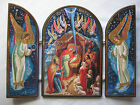 Russian Triptych Nativity Icon Infant Jesus Joseph Mary Shepherds