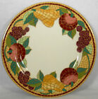 PIER 1 china MOSAIC FRUIT pattern DINNER PLATE 10-1/2