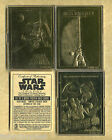 (3) STAR WARS 23KT GOLD CARD LIMITED BOX COA Serial Numbers 0390S 10k