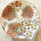 222 FIFTH Set of 4 WINTER FLORAL Red French 6.5