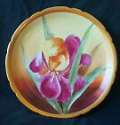 EXQUISITE J.P. LIMOGES DECORATIVE PLATE HAND PAINTED ARTIST SIGNED FLORAL