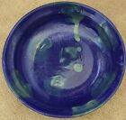Large Hand Thrown Pottery Blue Green Glazed Bowl