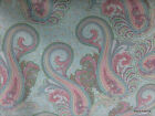 Spa Mint Pink Paisley Patty Reed 100% Cotton Fabric BTY Half Yard t3/10