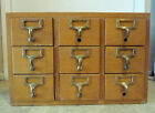 Vintage Library Card Catalog Storage Filing Gaylord