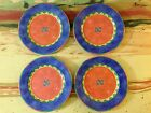 Lot of 4 Sango May Night Pattern Sue Zipkin Potpourri Mix & Match Salad Plates