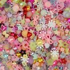 100 pcs Assorted Pearl Resin Flatback Beads Craft Embellish Scrapbook Cards