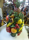 VINTAGE PLASTIC TYPE FRUIT TREE CENTERPIECE IN HULL F88  USA CONTAINER