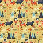 Birch Fabrics Village Feast Organic- Adorable Cotton BTY- Native, Indian