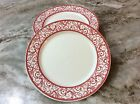 Ciroa Appetizer, Dessert Plates. Red And White Swirl. Beautiful. Porcelain. New