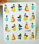 Princess nails Decal,20 pcs a sheet,Nail art,Snow white,jasmine,Disney Nails