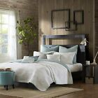 NEW Ink+Ivy PACIFIC Coverlet Set Full Queen quilt Blue Teal Aqua Shams Ink + Ivy