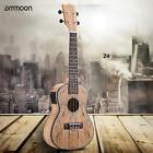 ammoon 24 inch Ukulele 4String Guitar Hawaiian Guitar Deadwood W EQ Pickup K0E8