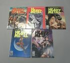 Vintage HEAVY METAL Lot of 5 Magazines 1989 Nov Sep July March May