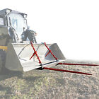 Bucket Dual 43 Hay Bale Spear Attachment front Loader Tractor Skid steer Deere