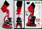 VINTAGE LOMO ANALYT MICROSCOPE TOY SET OLD 3 IN 1 RED
