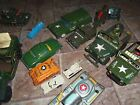 Vintage Military Lot Friction Tin Japan Tanks staion wagon 1960s cars Boys