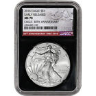 2016 American Silver Eagle NGC MS70 Early Releases 30th Black Retro