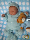 ADORABLE Knit Baby Doll Outfit For Reborn BLUE
