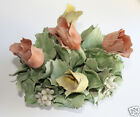 Capodimonte Style Tulips Flower Bouquet Porcelain Large Made in Italy