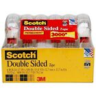 Scotch Double Sided Tape 1 2x500 6 Rolls photo safe mounting NEW