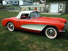 Chevrolet Corvette 2 Dr Convertible Frame off restoration Venetian Red two tops hard top correct suffix 2x4bbl