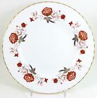 VINTAGE ROYAL CROWN DERBY CHINA ENGLAND BALI A1100 DINNER PLATE GOLD RUST FLORAL