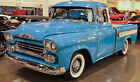 1 1950s Chevy Pickup Truck Rare Vintage Classic Model Car Carousel Blue Metal 18