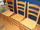 One (1) Vintage Cane Bottom Chair or One (1) Vintage Wood Slat Chair